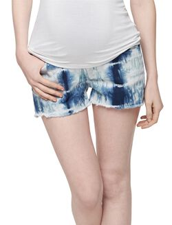 J Brand Secret Fit Belly Tie Dye Maternity Shorts, Tie Dye