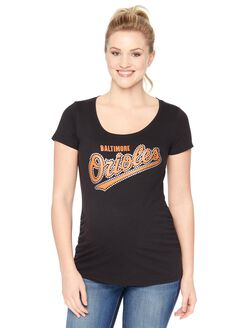 Baltimore Orioles MLB Short Sleeve Maternity Tee, Orioles