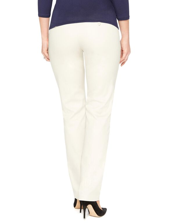Secret Fit Belly Sateen Straight Leg Maternity Pants, Cement