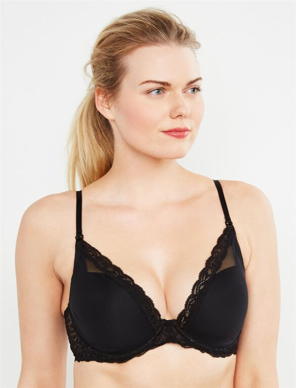 Natori Demi Lightly Lined Nursing Bra, Black