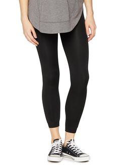 Faux Fur Lined Legging, Black