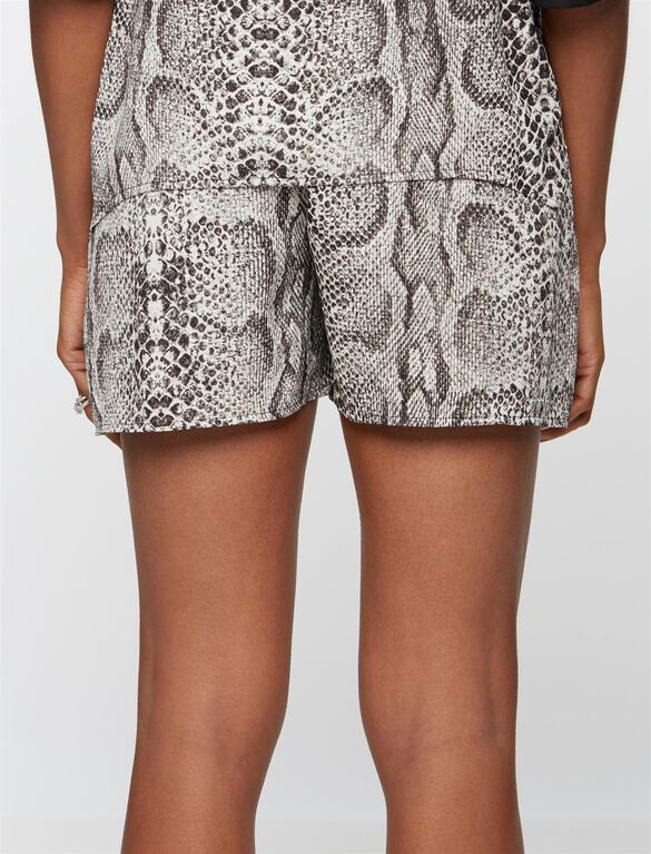 Rachel Zoe Secret Fit Belly Printed Maternity Shorts, Snake Print