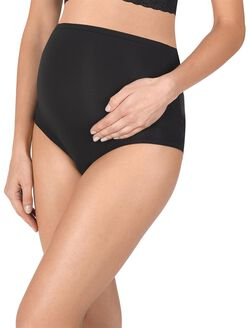 Natori Bliss Perfection Full Panel Maternity Brief Panty, Black