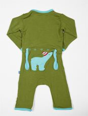 Polar Bear Baby Jumpsuit, Moss Polar Bear