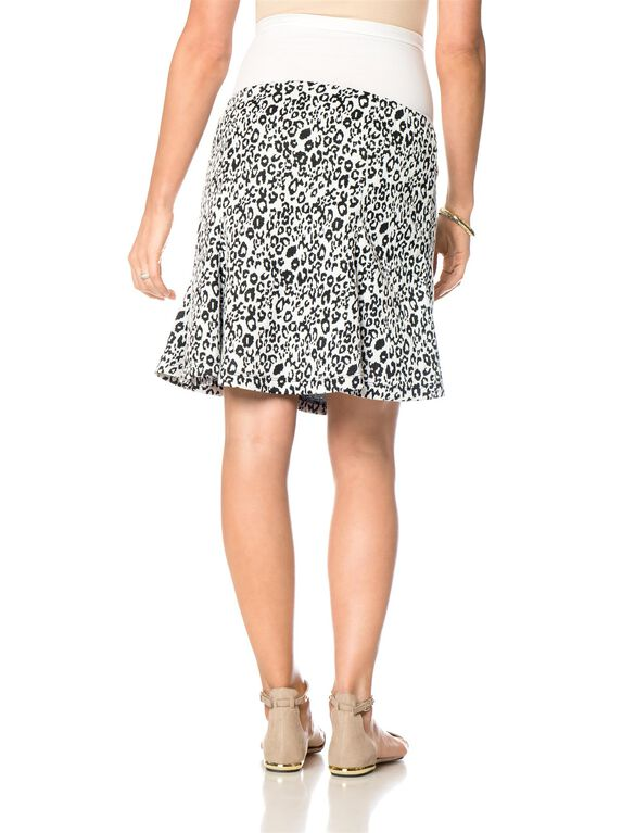 Drew Secret Fit Belly Fit And Flare Maternity Skirt, Animal Print