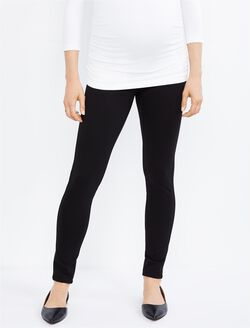 Secret Fit Belly Ponte Skinny Maternity Pants, Black