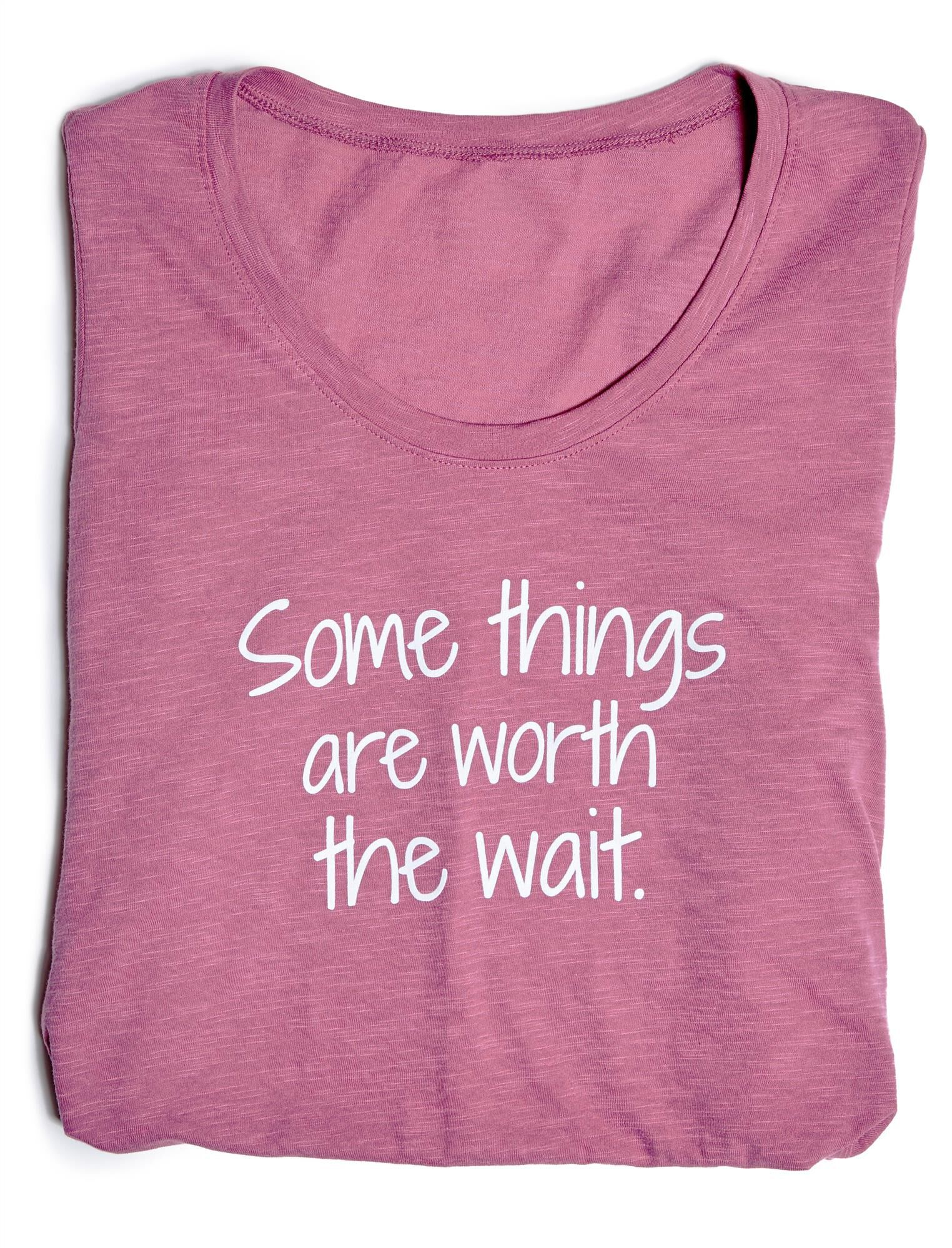 Some Things Are Worth The Wait Graphic Maternity Tee