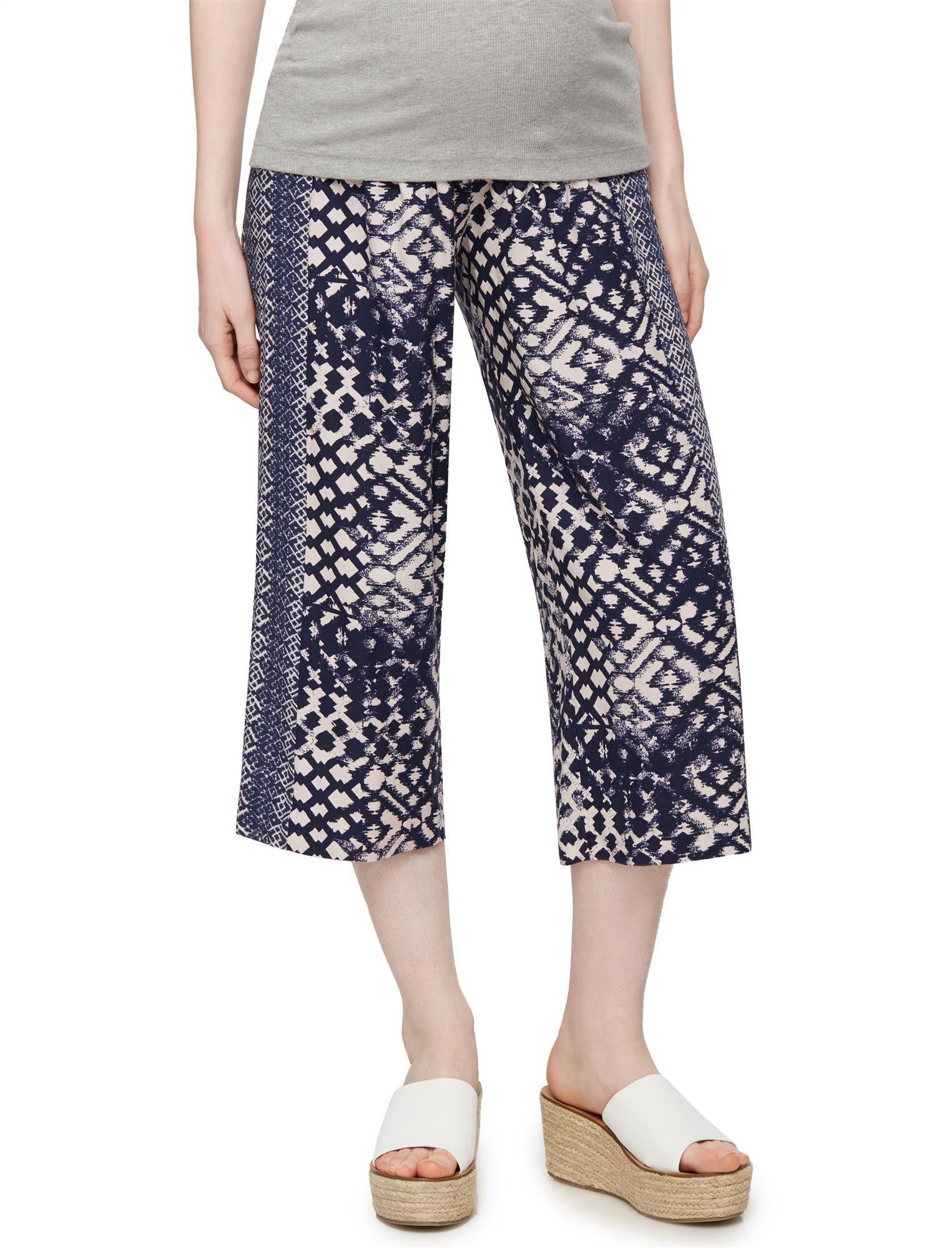 Secret Fit Belly Cotton Woven Wide Leg Maternity Pants