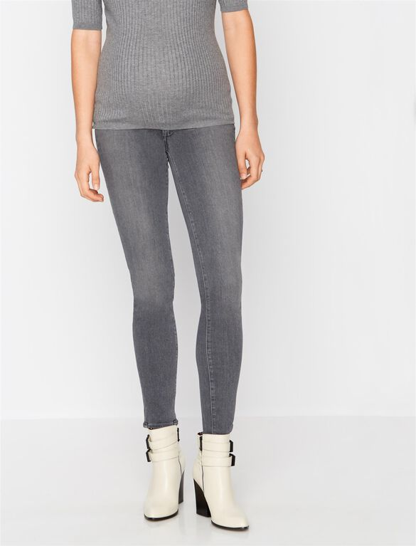 PAIGE Denim Secret Fit Belly Vertugo Skinny Maternity Crop Jeans, Grey