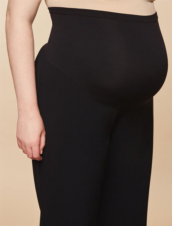 Plus Size Secret Fit Belly Boot Cut Suiting Maternity Pants- Black, Synthetic Black