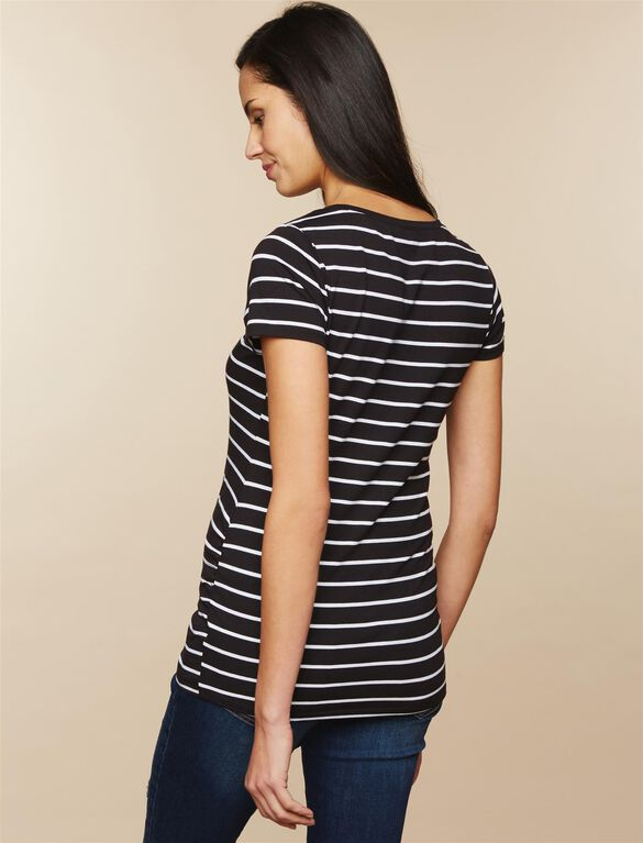 Bumpstart Maternity Tee (2 Pack), Stripe/White