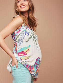 Indigo Blue Secret Fit Belly White Denim Maternity Shorts, Pastel Turquoise