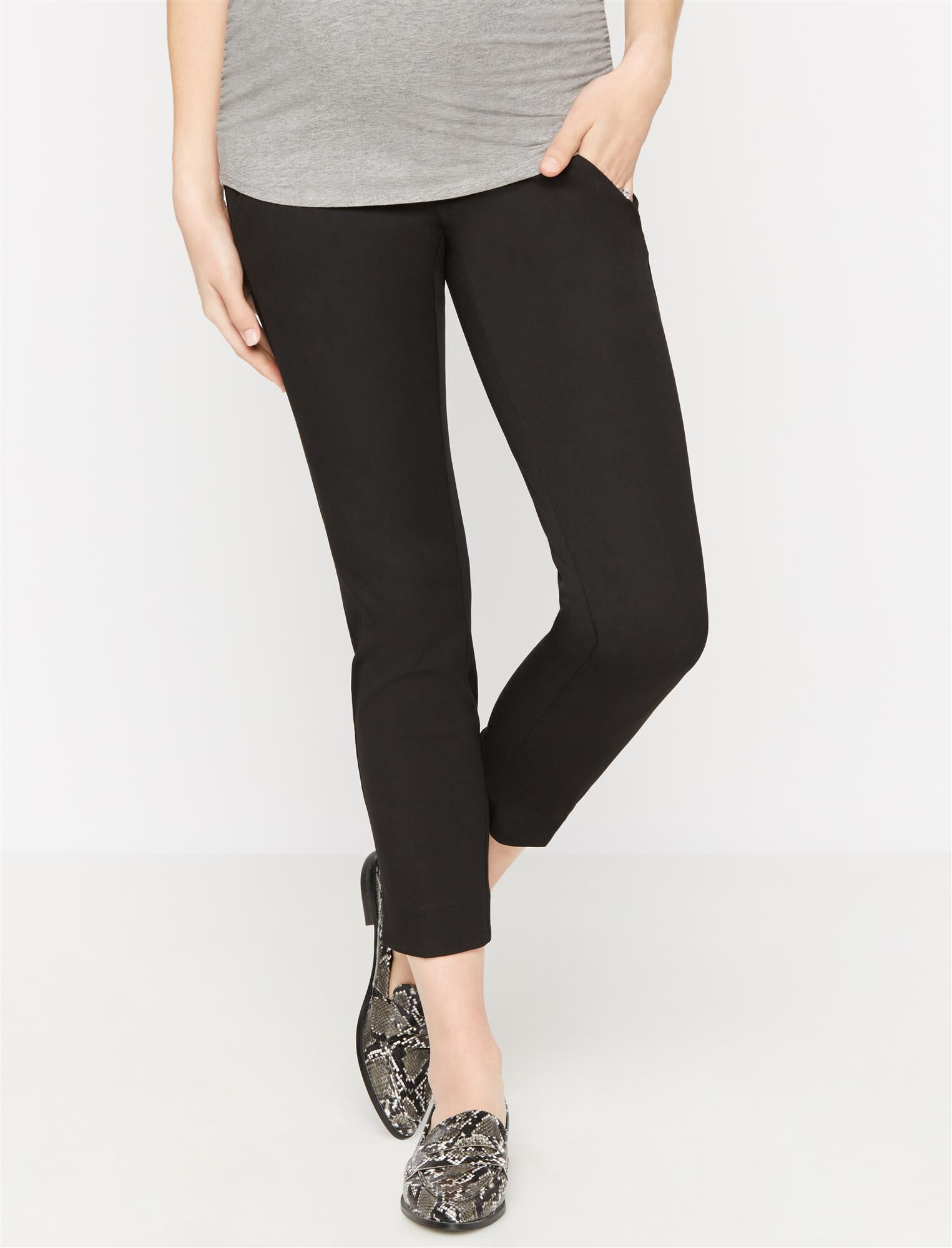 Secret Fit Belly Straight Ankle Maternity Pants