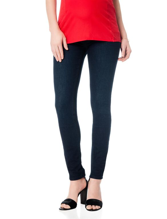 Petite Secret Fit Belly Skinny Stretch Maternity Jeans, Rinse Wash