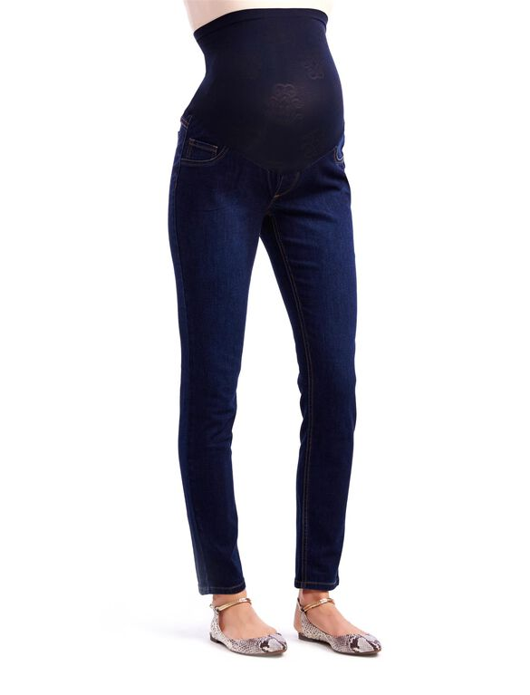 Jessica Simpson Petite Secret Fit Belly Jegging Maternity Jeans, Dark Wash