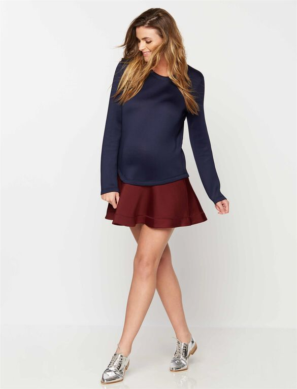 BCBGMAXAZRIA Colorblock Maternity Dress, Dark Navy