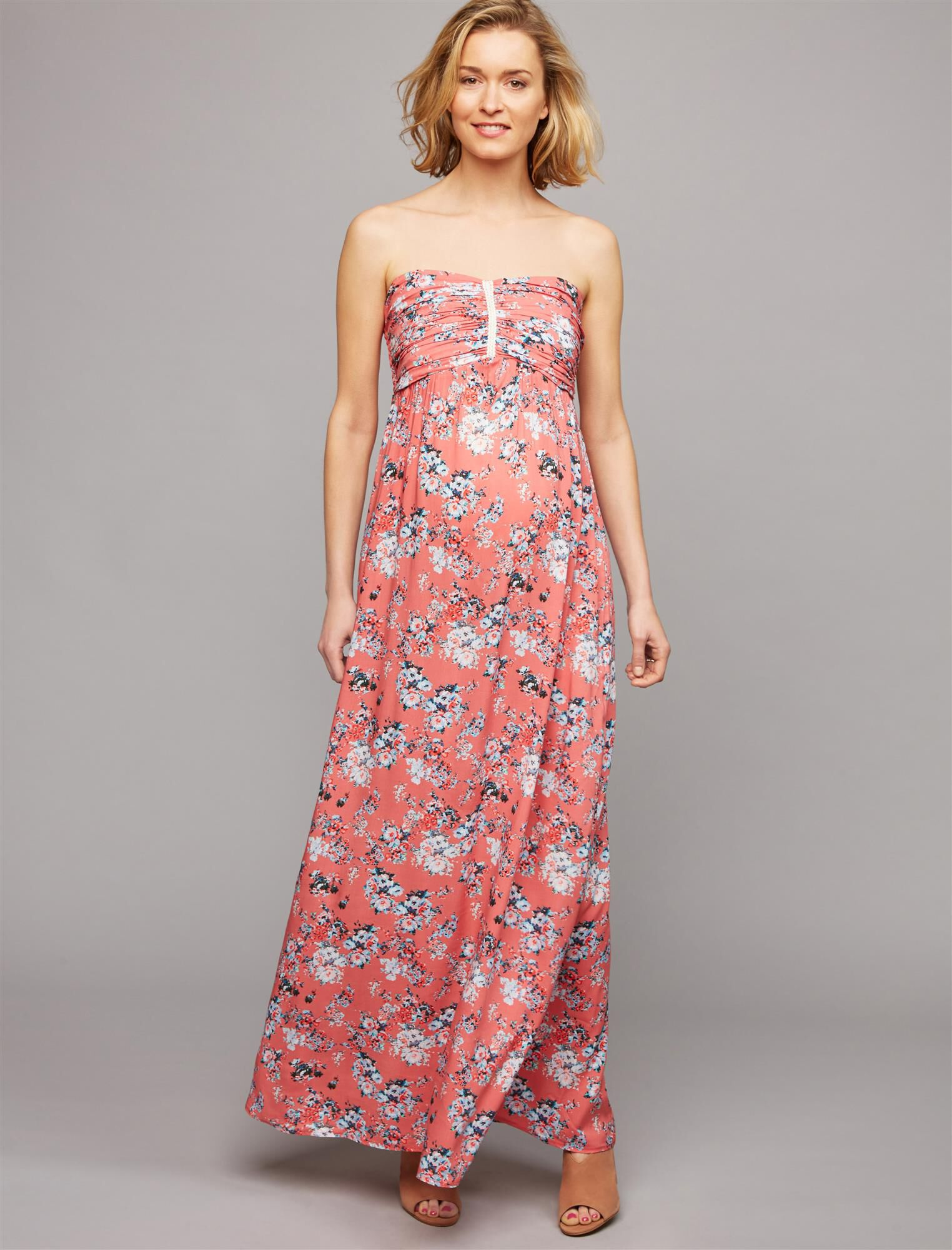 Envie De Fraise Strapless Maternity Maxi Dress