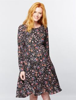 Pietro Brunelli Tie Detail Maternity Dress, Floral Print