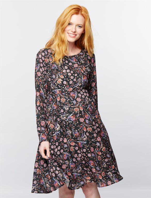 Pietro Brunelli Tie Detail Maternity Dress, Floral Print