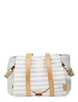 Skip Hop Highline Convertible Tote Diaper Bag, Oyster Stripe