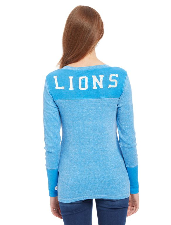 Detroit Lions NFL Long Sleeve Maternity Graphic Tee, Lions Blue
