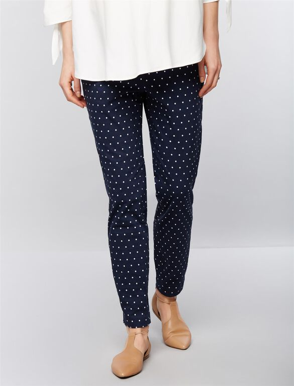 Isabella Oliver Under Belly Karina Maternity Pants, Polka Dot