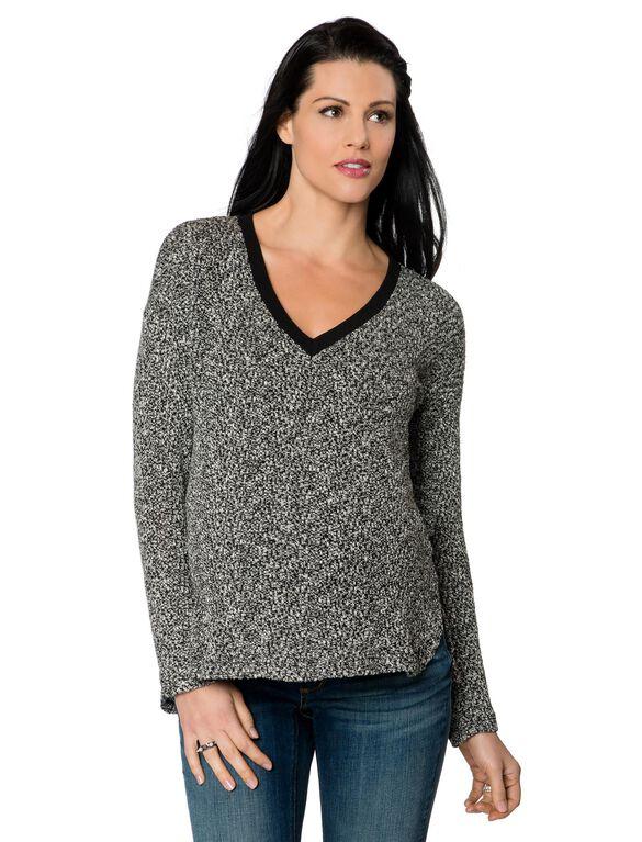 Maternity Sweater, Multi Caviar