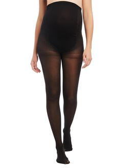 Sheer Light Compression Maternity Pantyhose, Black