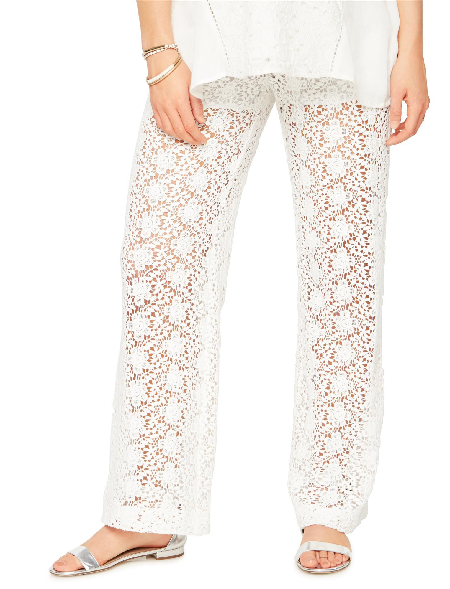 Secret Fit Belly Lace Wide Leg Maternity Pants