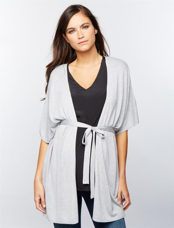 Poncho Maternity Sweater, Heather Grey