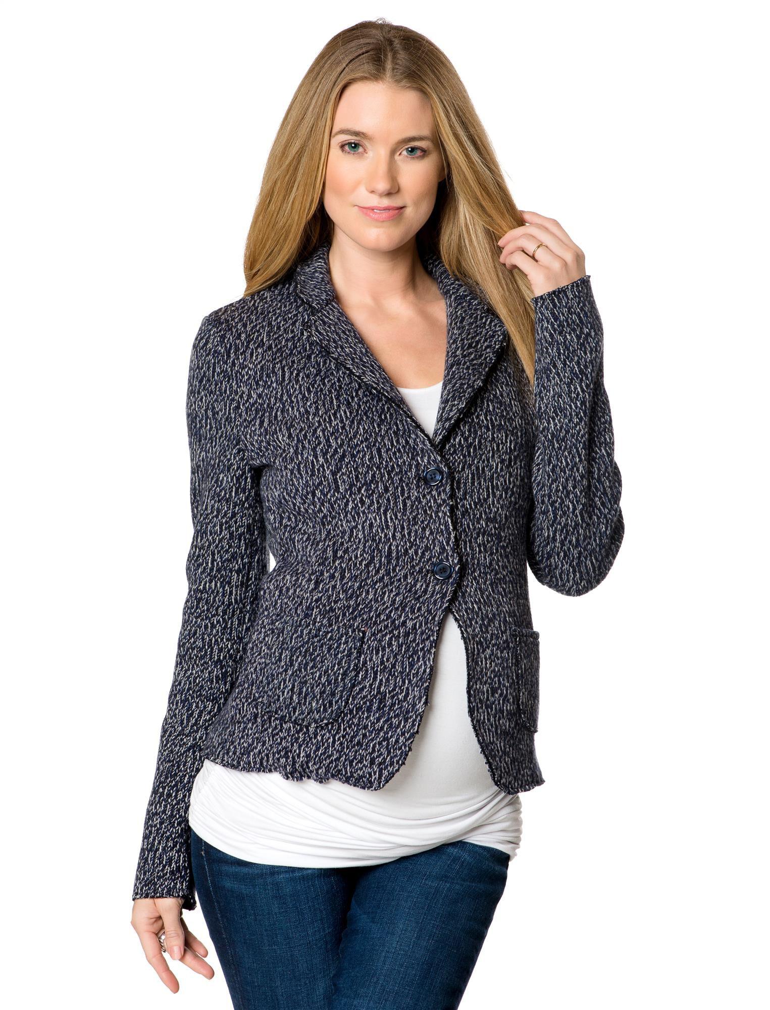 2 Button Closure Wool Maternity Jacket