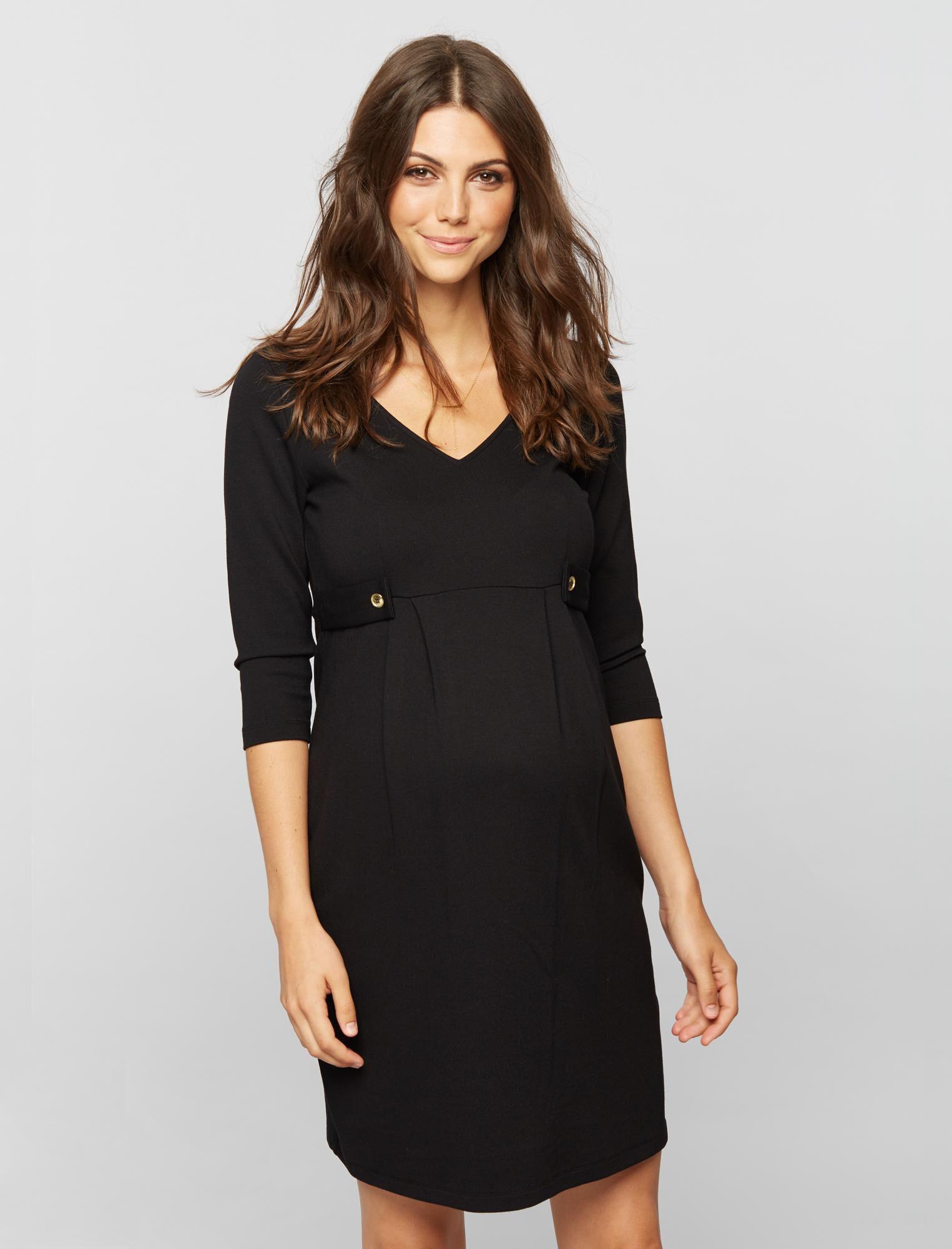 Isabella Oliver Marlow Maternity Dress- Black