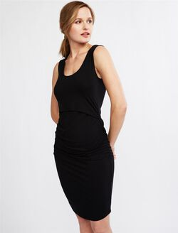 Ripe Lift Up Nursing Dress, Black