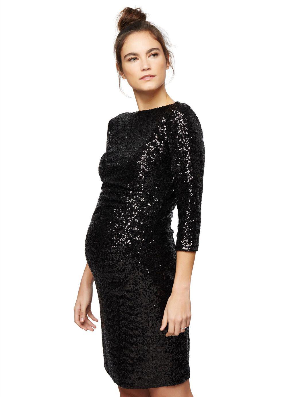 Js boutique sequin maternity dress destination maternity js boutique sequin maternity dress black ombrellifo Gallery