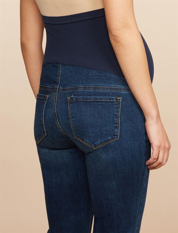 Secret Fit Belly Stretch Straight Leg Maternity Jeans, DARK WASH