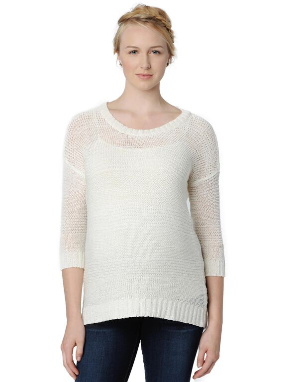 Design History Drop Shoulder Maternity Sweater, Pearl