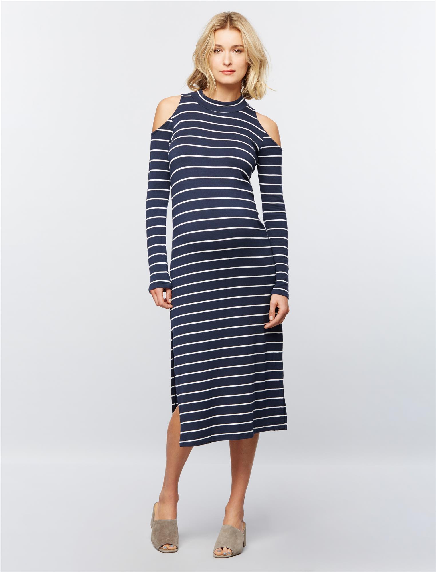 Splendid Cold Shoulder Maternity Dress