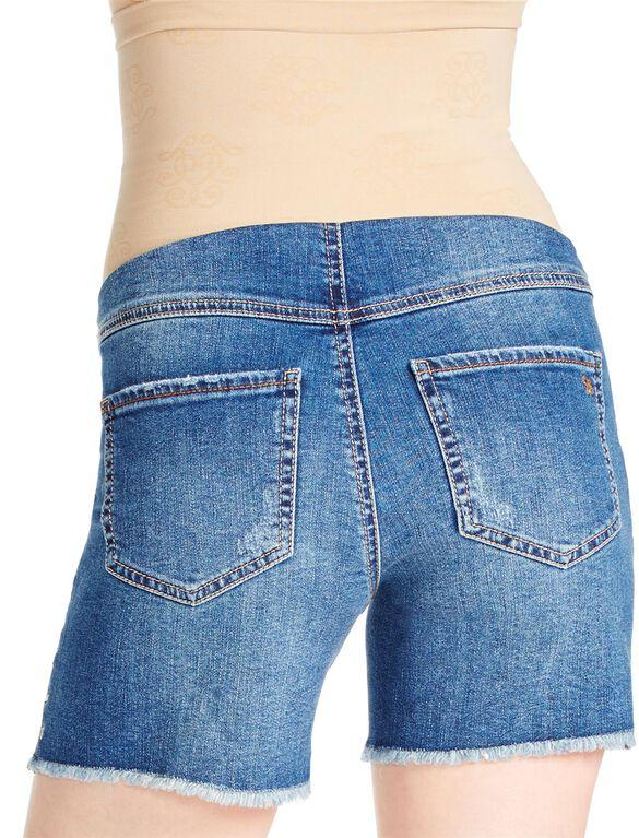 Jessica Simpson Secret Fit Belly Studded Maternity Shorts, Light Wash