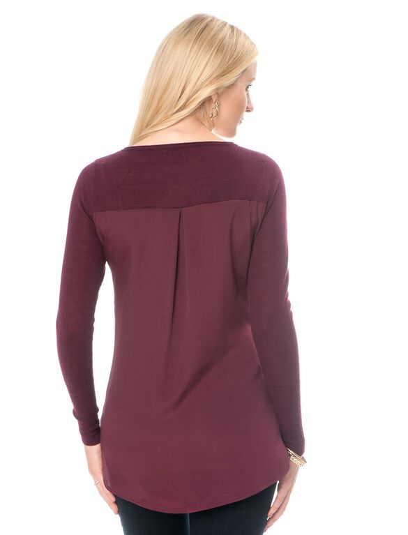 Maternity Sweater, Deep Wine