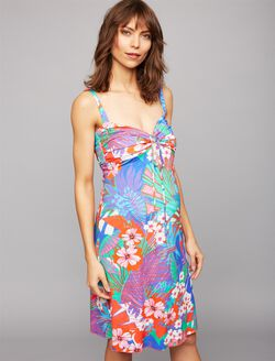 Pietro Brunelli Sweetheart Detail Maternity Dress, Tropical Print