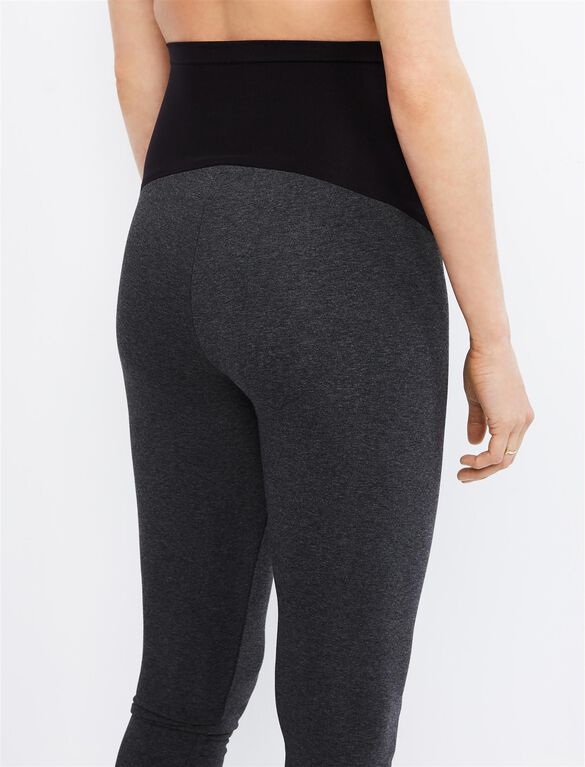 Luxe Essentials Secret Fit Belly Ultra Soft Maternity Leggings, Grey