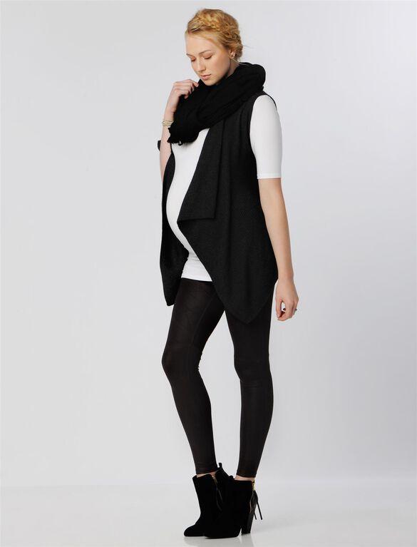 Splendid Bias Cut Maternity Vest, Graphite