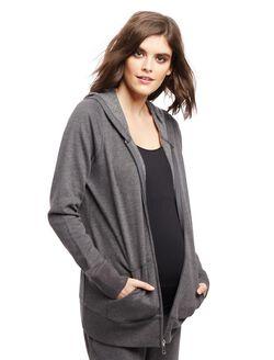 Kangaroo Pocket Maternity Hoodie, Grey