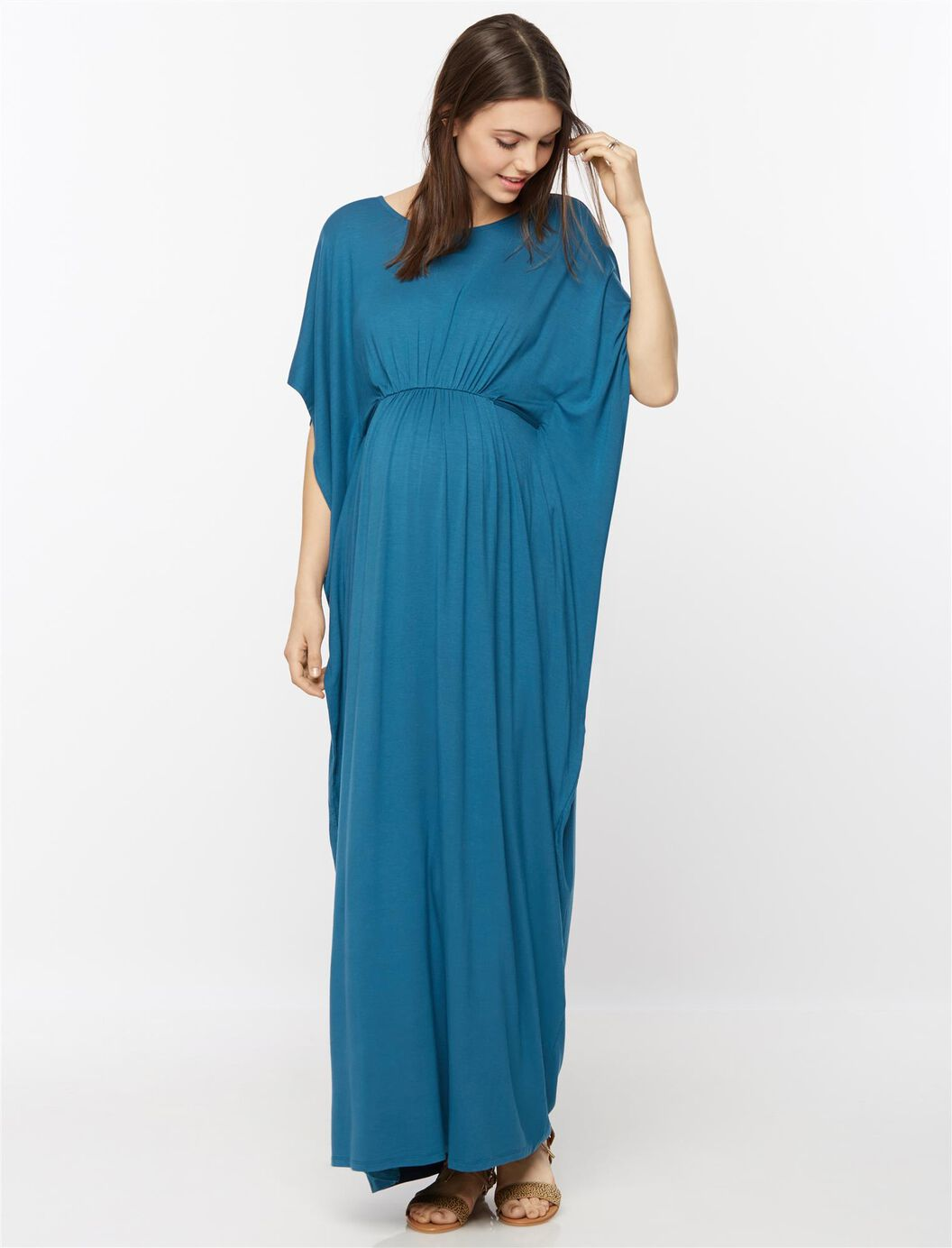 Batwing maternity maxi dress a pea in the pod maternity batwing maternity maxi dress teal ombrellifo Gallery
