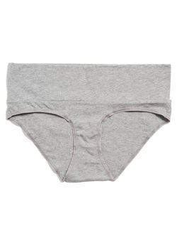 Fold Over Maternity Panty (single), Heather Grey