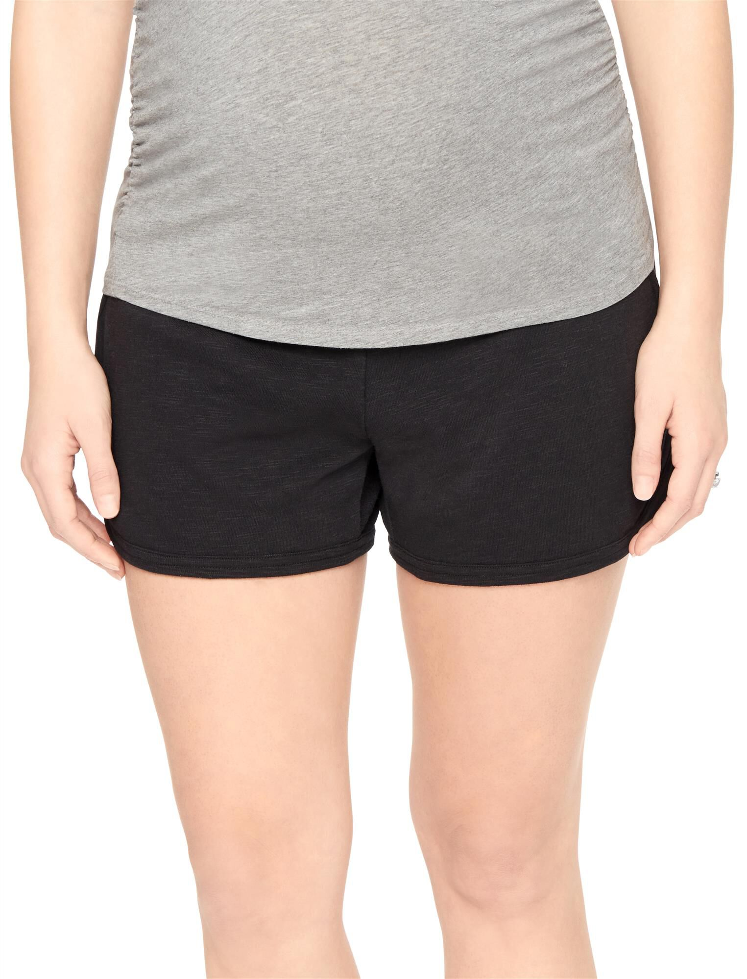 Under Belly French Terry Maternity Shorts- Solid