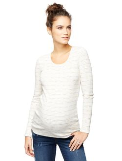 Luxe Essentials Rib Knit Maternity Top, Pink
