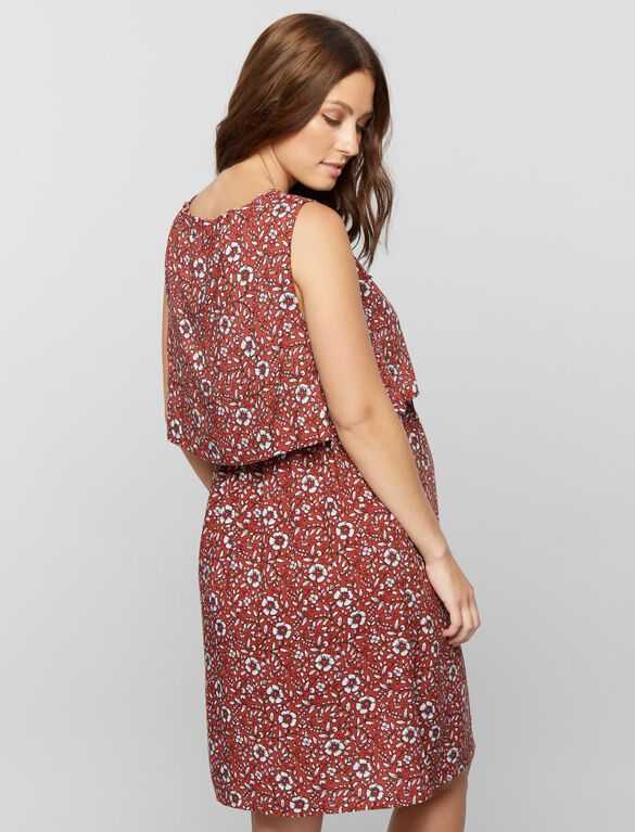 Splendid Tier Top Maternity Dress, Floral Print