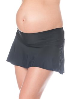 Skirted Maternity Swim Bottom, Black
