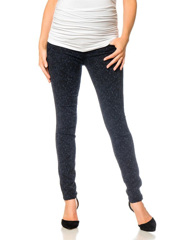 Shya Secret Fit Belly Skinny Leg Maternity Pants, Genre Print